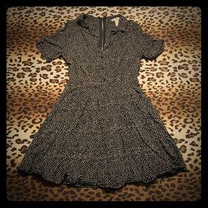 Mini A-line poke-a-dot dress